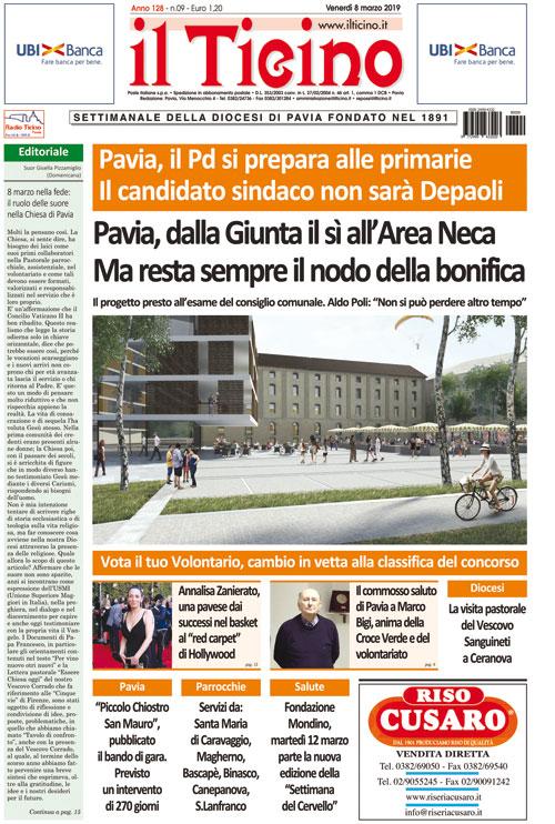 2556989a0191 Il Ticino di venerdì 8 marzo – Diocesi di Pavia